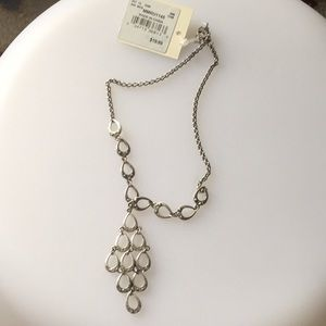 Silver necklace with stone